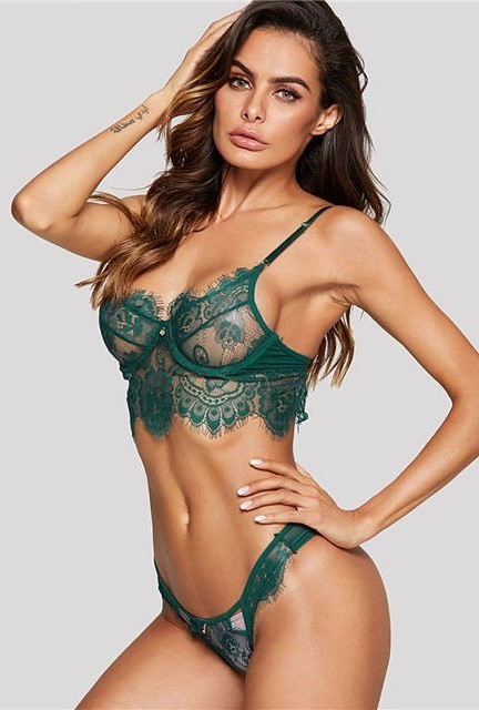Green-Wireless-Eyelash-Lace-Floral-Lingerie-Set-Women-Bra-And-Brief-Sets